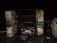 Сгоревший в Киреевском районе автомобиль, Фото: 1