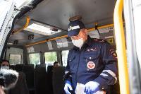 Полицейский рейд в тульских маршрутках: на пассажиров без масок составляют протоколы, Фото: 6