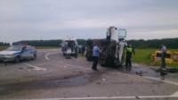 Авария на трассе Тула-Калуга. 04.07.2014, Фото: 3