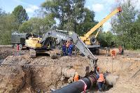 Как ведется монтаж водовода, питающего водой Пролетарский округ Тулы. Фото, Фото: 1