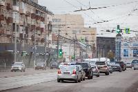 На ул. Советской в Туле убрали дорожные ограждения с трамвайных путей, Фото: 6