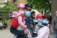 В Туле сотрудники МЧС эвакуировали госпитали госпиталь для больных коронавирусом, Фото: 11