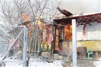 Пожар в жилом бараке, Щекино. 23 января 2014, Фото: 19