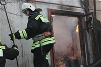 Пожар в жилом бараке, Щекино. 23 января 2014, Фото: 16