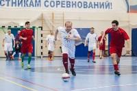 Мэр Тулы Юрий Цкипури и команда ветеранов «Фаворит» сыграли в футбол с волонтерами, Фото: 55