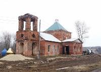 Храм в селе Ефремовского района обрел купол и крест, Фото: 1