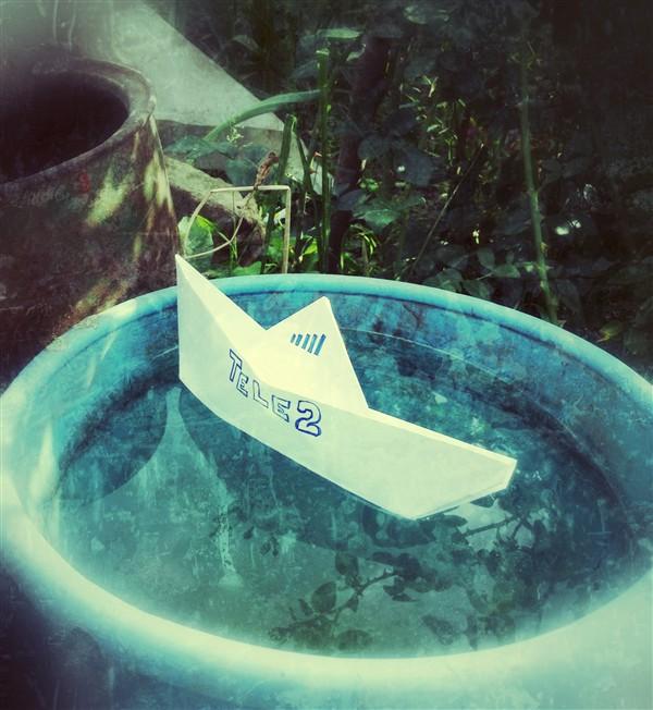 Кристина и Александр Гавриловы: Идея сделать фотографии пришла, когда мы были на дачном участке в Щегловской засеке «Петушки». Почему-то вспомнили, как в детстве делали кораблики, раскрашивали их и пускали в воду. А здесь начали фантазировать и кораблик Tele2 «поплыл» по дачным просторам. И название придумали как-то сразу: с Tele2 звоним без проблем