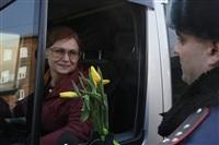 Полицейские поздравили автоледи с 8 Марта, Фото: 14
