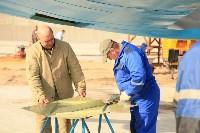 Установка копии Ла-5ФН на несущую опору мемориала «Защитникам неба Отечества» , Фото: 13