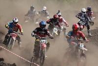 Юные мотоциклисты соревновались в мотокроссе в Новомосковске, Фото: 137