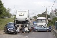 В Туле на Калужском шоссе столкнулись фура и легковушка, Фото: 9