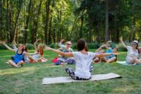 В Центральном парке прошла тренировка по пилатесу, Фото: 3