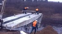 Монтаж моста в Архангельской области, Фото: 1