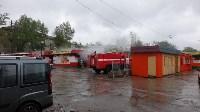 В Ясногорске сгорел продуктовый магазин. 16 мая 2015, Фото: 4