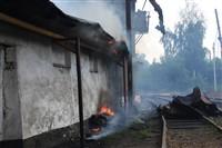 Пожар на хлебоприемном предприятии в Плавске., Фото: 10