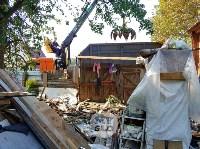 В Туле со двора «Плюшкиной» вывезли несколько грузовиков мусора, Фото: 13