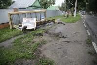 На ул. Циолковского автомобиль снес остановку, Фото: 6