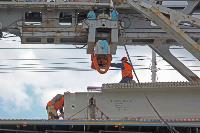 Восточный обвод: Строительство моста через Упу, Фото: 10