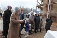 Освящение креста купола Свято-Казанского храма, Фото: 1