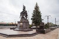 На Московском вокзале установили памятник защитникам Тулы, Фото: 1