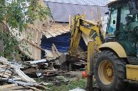 В тульском селе сносят незаконные цыганские постройки, Фото: 14