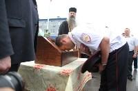 Сотрудники ОМОН поклонились мощам святого великомученика Георгия Победоносца, Фото: 27