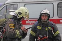 Тульские пожарные провели соревнования по бегу на 22-этаж, Фото: 11