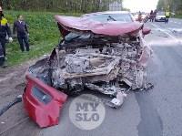 На трассе М2 в Туле «Ситроен» жестко «догнал» «Фольцваген», Фото: 7