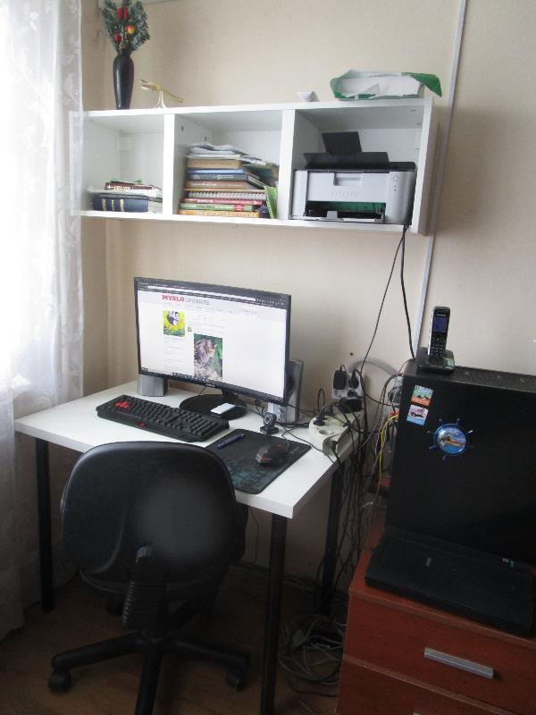 Мое домашнее пространство имеет вот такой рабочий вид