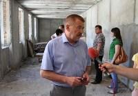 Юрий Андрианов проинспектировал работы в бассейне на Гоголевской и на Ледовой арене. 4 июля 2015, Фото: 8