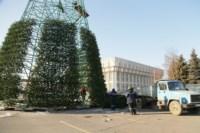 Установка ёлки на площади Ленина. 21 ноября 2014 года, Фото: 1