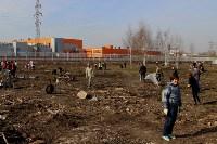 Генеральную уборку в Туле на Пролетарской набережной провели работники КБП, Фото: 36
