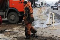 Прорыв водовода на пр. Ленина, Фото: 6