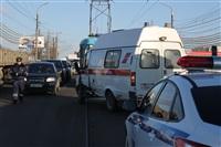 ДТП на мосту через Упу с участием «скорой». 28 января 2014, Фото: 1