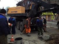 Порыв водопровода на пр. Ленина 4 апреля 2014, Фото: 1