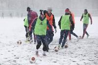 «Арсенал» готовится на снежном поле к игре против «Тосно», Фото: 2