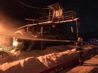 Крупный пожар в Ленинском: загорелся склад на заводе битумных изделий, Фото: 10