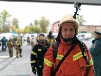 Тульские пожарные провели соревнования по бегу на 22-этаж, Фото: 45