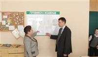 Денис Бычков проверил один их тульских пунктов сдачи ЕГЭ , Фото: 2