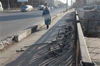 Привокзальный мост, ямы на тротуатре, Фото: 1