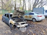 Ночной пожар в Петелино: огонь повредил три автомобиля, Фото: 1