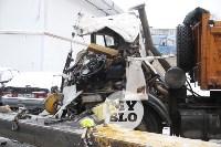 Стрела автокрана раздавила водителя, Фото: 4
