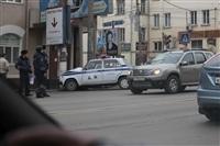 В Туле машина ДПС протаранила столб, Фото: 2