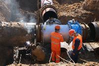 Как ведется монтаж водовода, питающего водой Пролетарский округ Тулы. Фото, Фото: 3