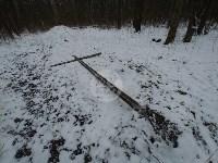 В Тульском лесу нашли загадочную поляну с крестами, елкой и зеркалами, Фото: 4