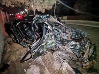 На выезде из Тулы BMW влетел в фуру: один человек погиб, Фото: 1
