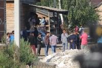 В Плеханово вновь сносят незаконные дома цыган, Фото: 28