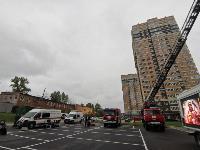Тульские пожарные провели соревнования по бегу на 22-этаж, Фото: 22