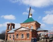 Храм в селе Ефремовского района обрел купол и крест, Фото: 26