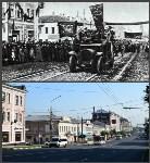 Пересечение проспекта Ленина и ул. Каминского (на старом фото - демонстрация рабочих), Фото: 11